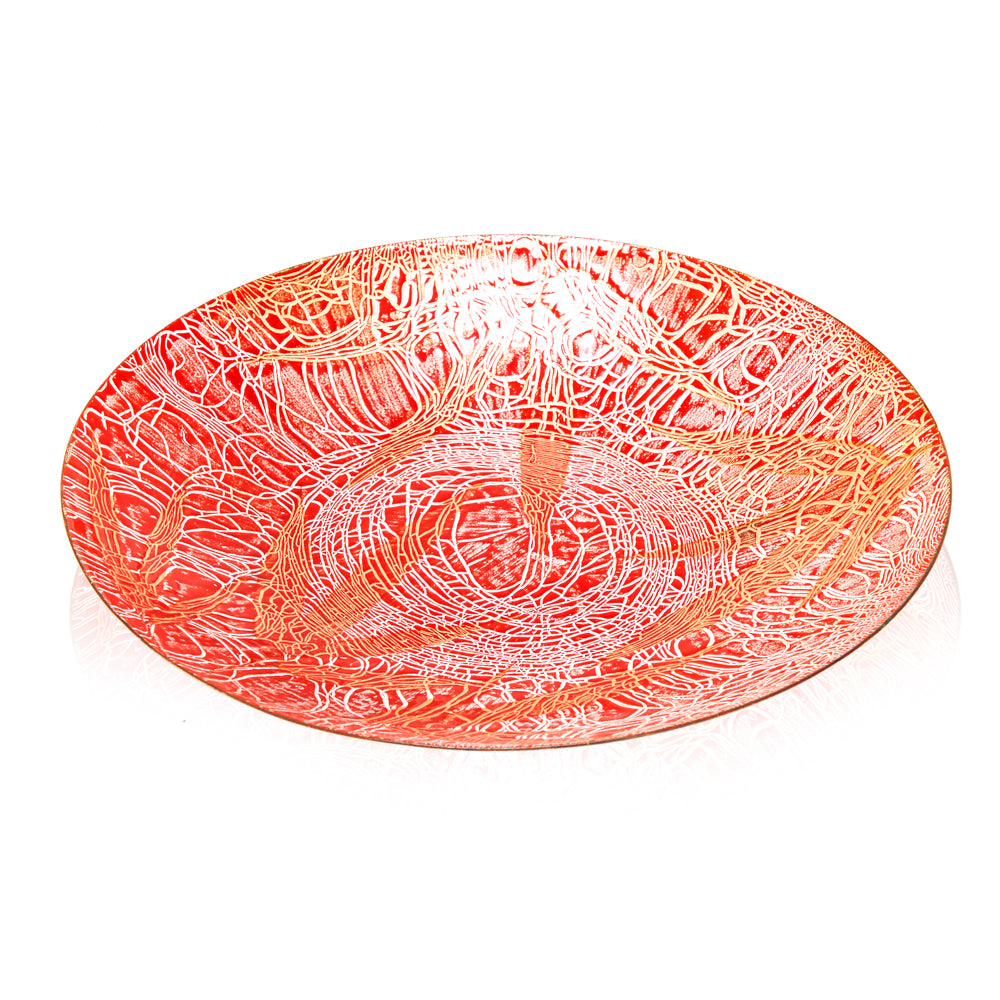 Red BFA Ceramic Plate