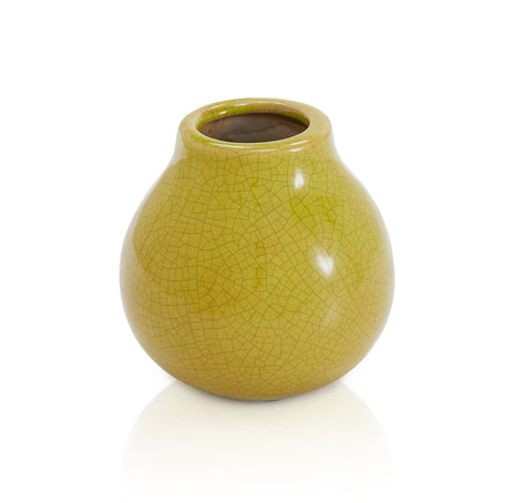 Green Yellow BFA Ceramic Vase Bowl