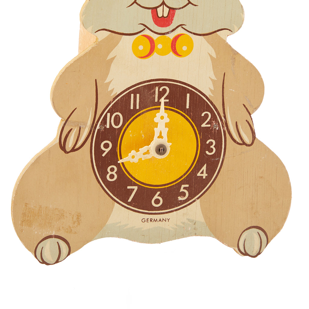 Rabbit BFA Wood Decor Clock