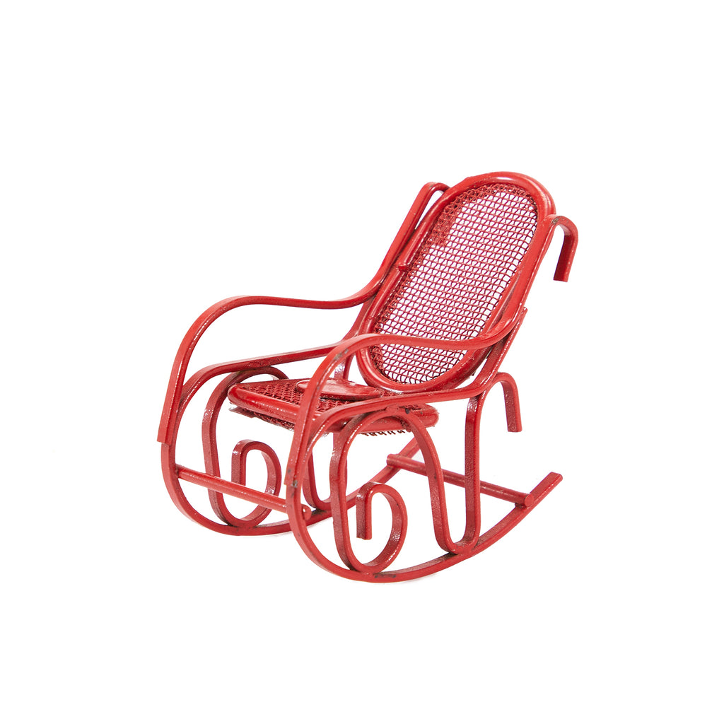 Red BFA Miniature Rocking Chair