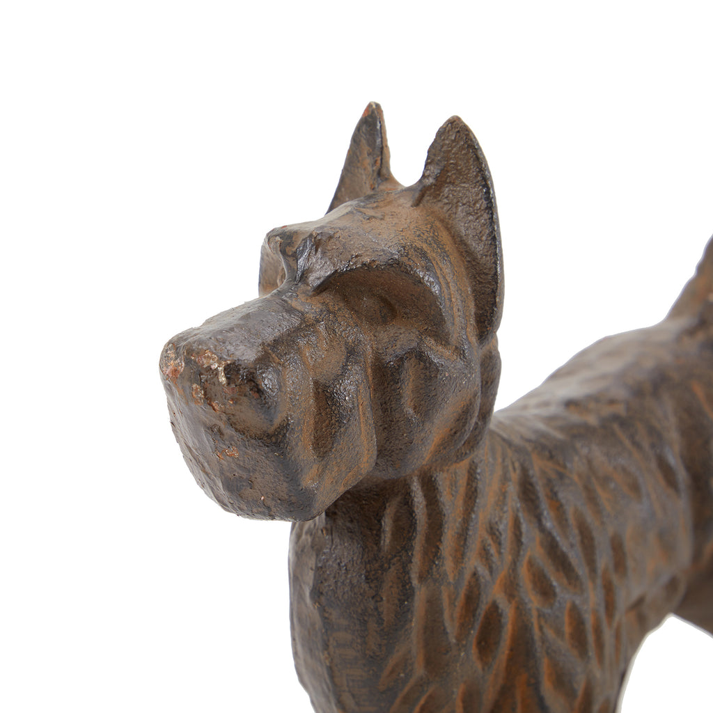 Brown BFA Metal Dog Sculpture