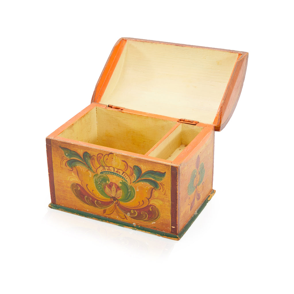 Tan BFA Vintage Wood Box