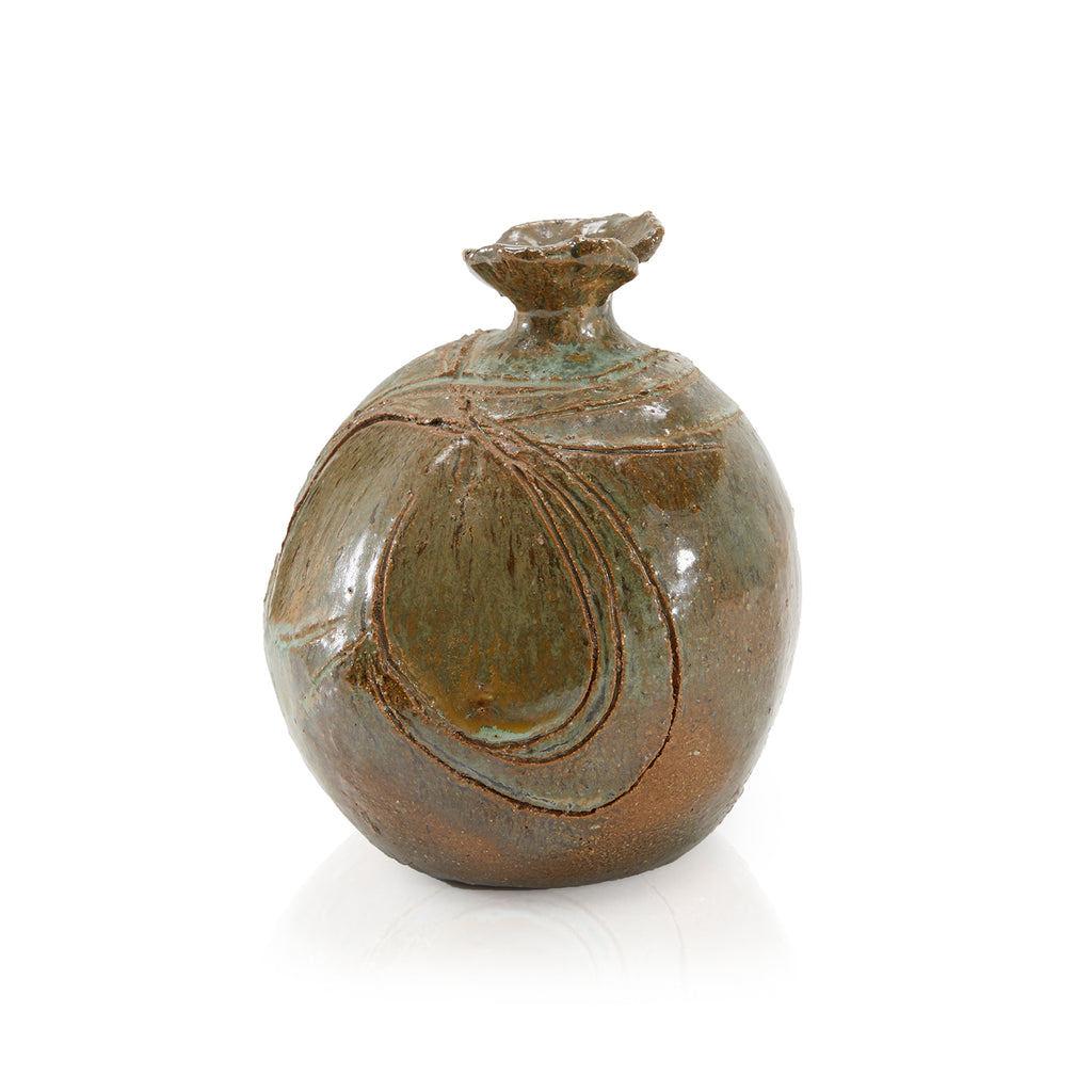 Brown BFA Primitive Vase