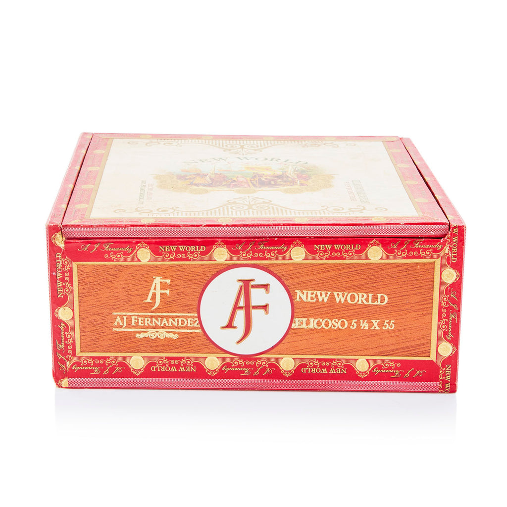 Red BFA 'AJF' Cigar Box