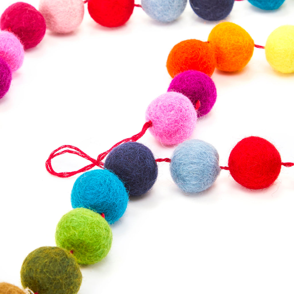 Multi BFA Felt Ball Garlands