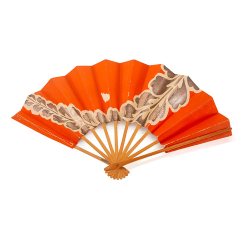 Folding BFA Orange Hand Fan