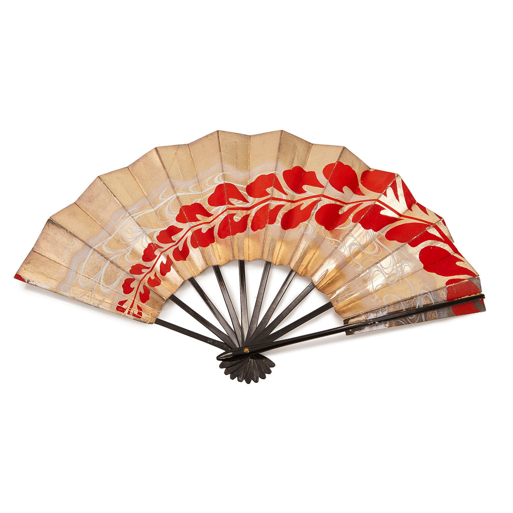 Folding BFA Gold Hand Fan