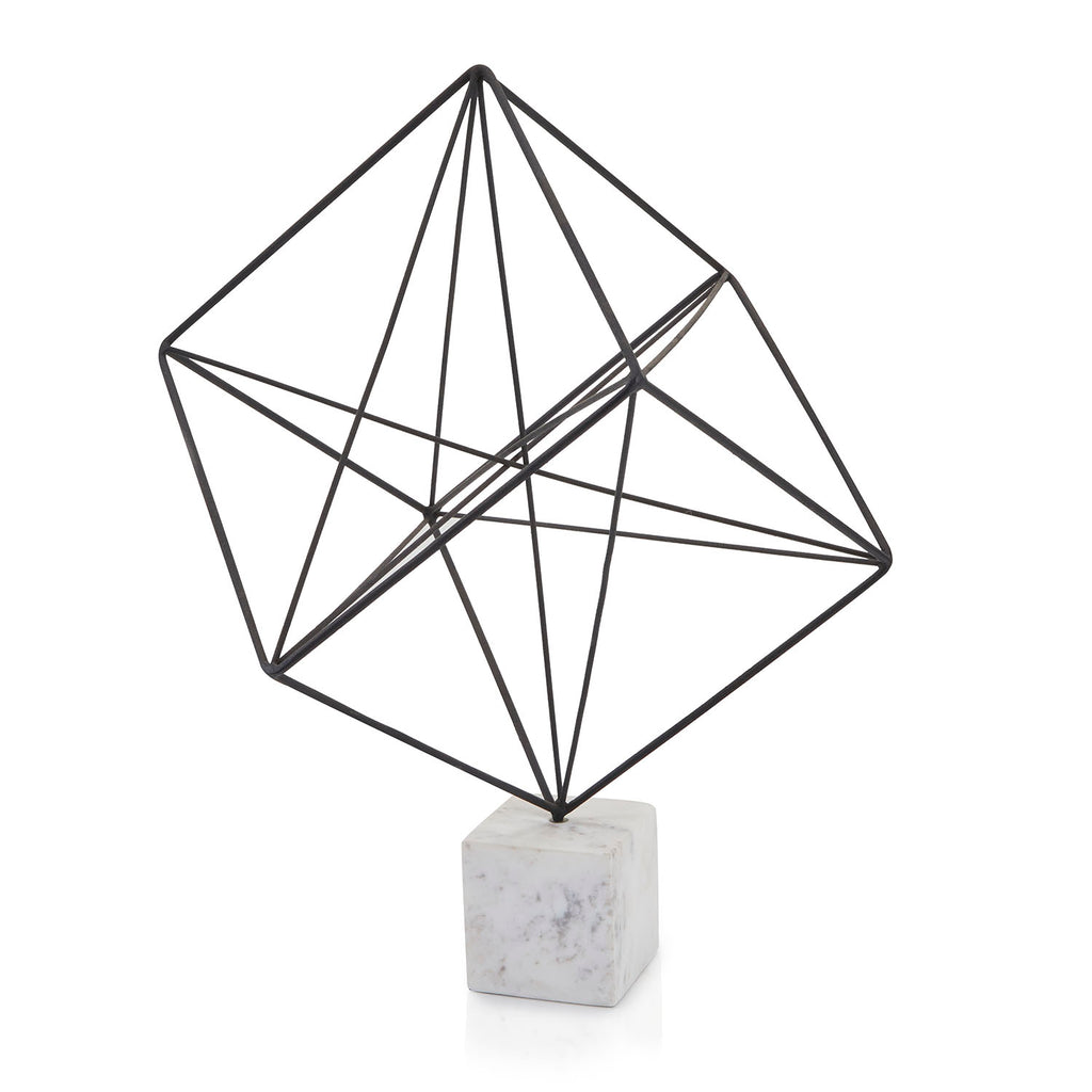 Black BFA Geometric Wire Sculpture