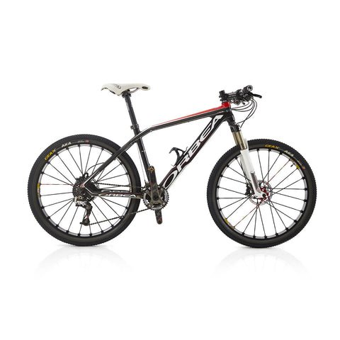 Black and Red Orbea Mountain Bike