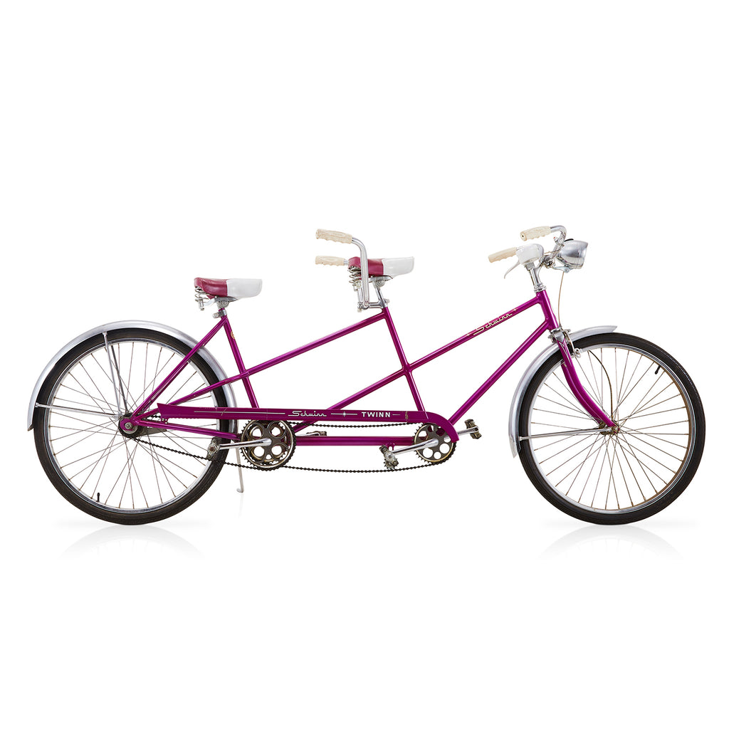 "Purple Schwinn ""Twinn"" Tandem Bicycle"