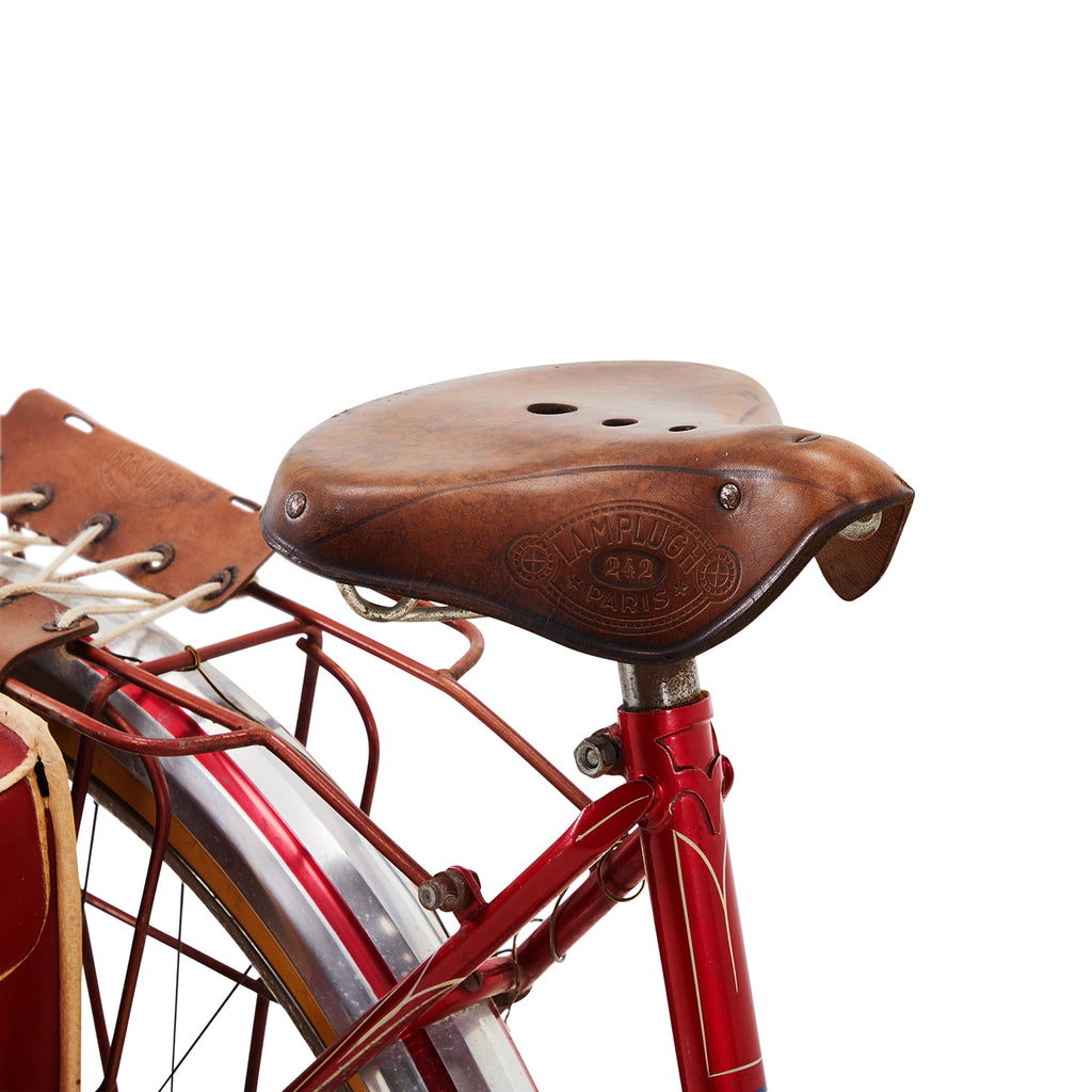 Red La Perle Cruiser Bike with Saddle Bag