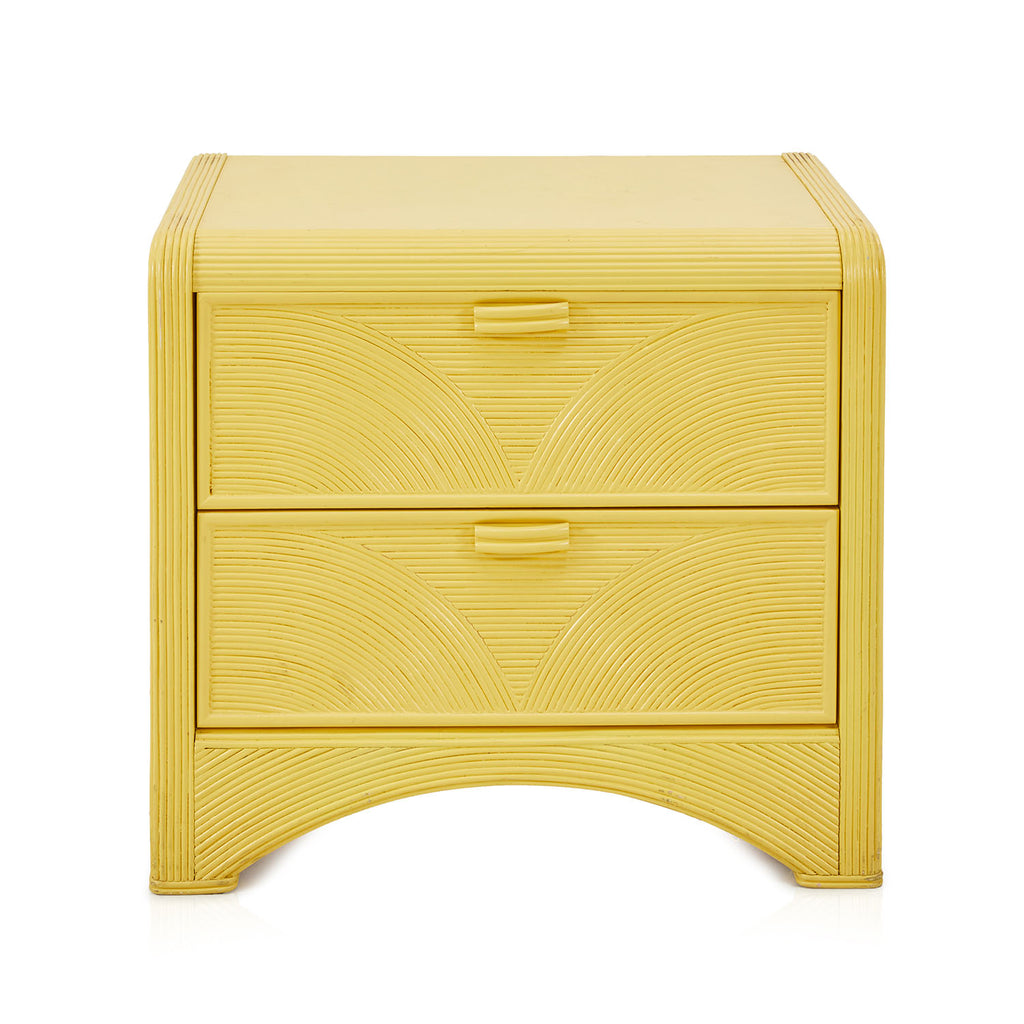 Yellow Textured Bedside Table