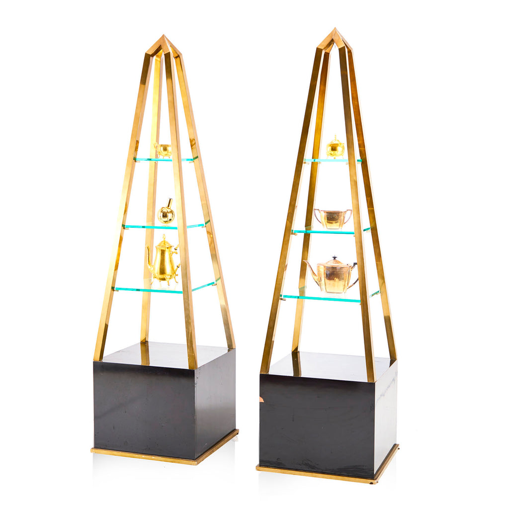 Obelisk Gold and Black Single Shelf