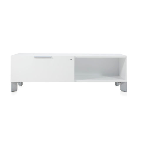 Contemporary White Media Console