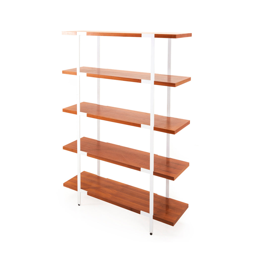 Wood and White Contemporary Book Shelf