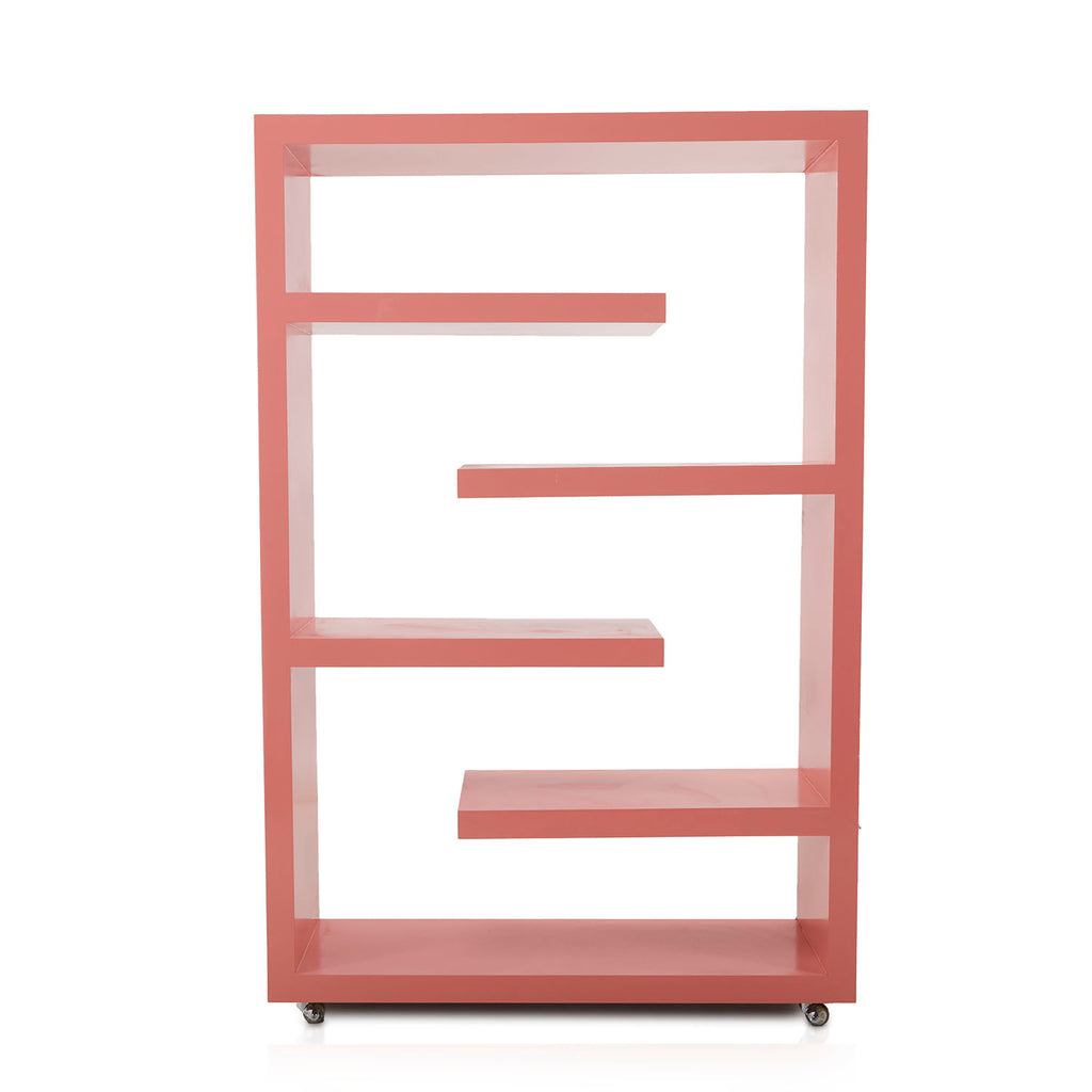 Pink Modern Large Book Shelf