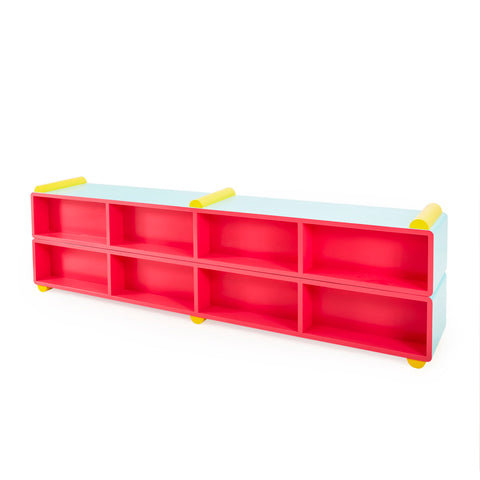 Memphis Style Floor Shelving Unit