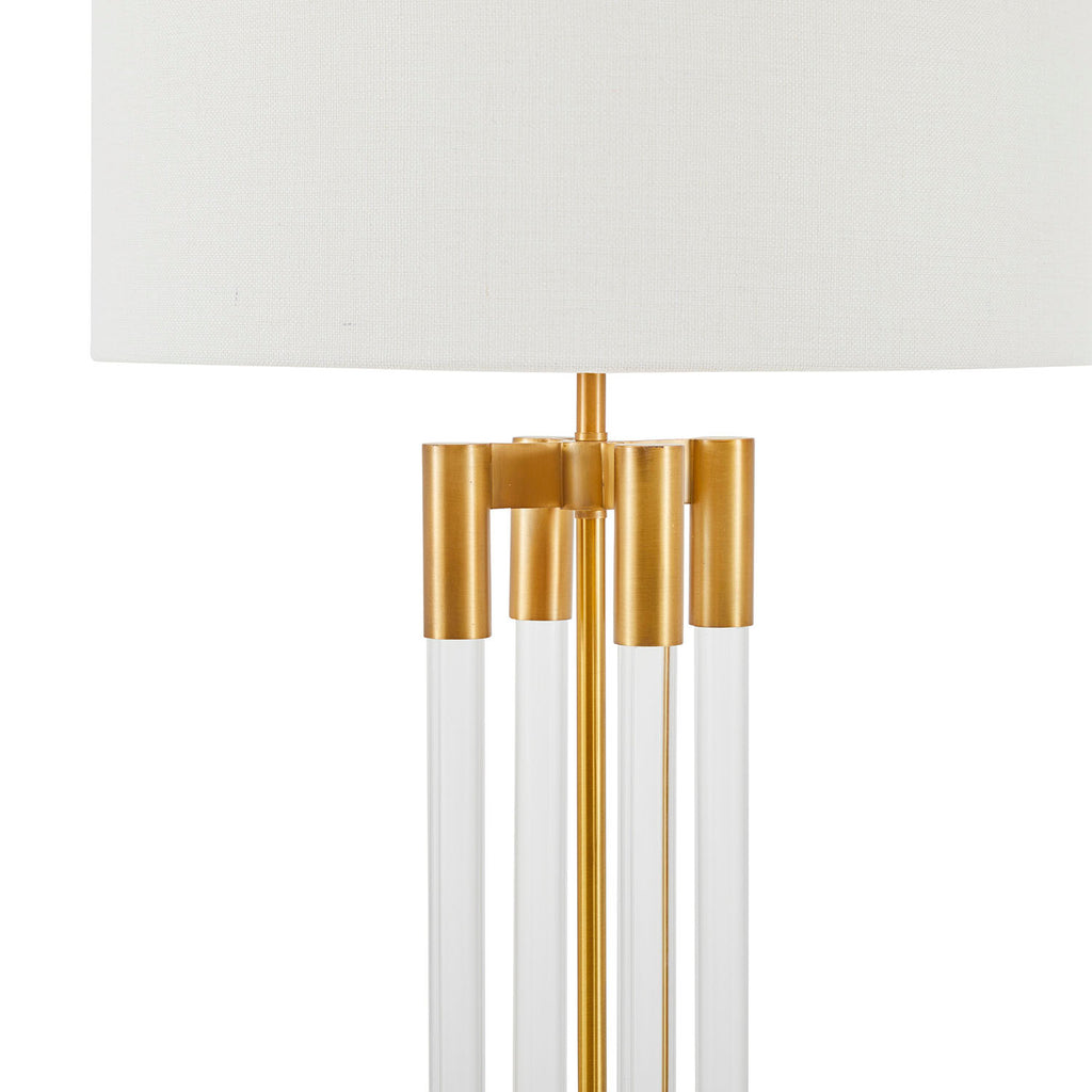Column Acrylic Brass Floor Lamp