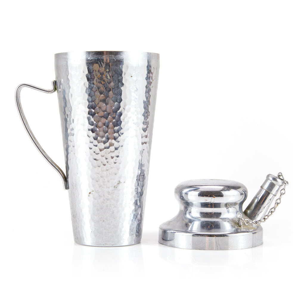 Chrome Dimpled Cocktail Shaker