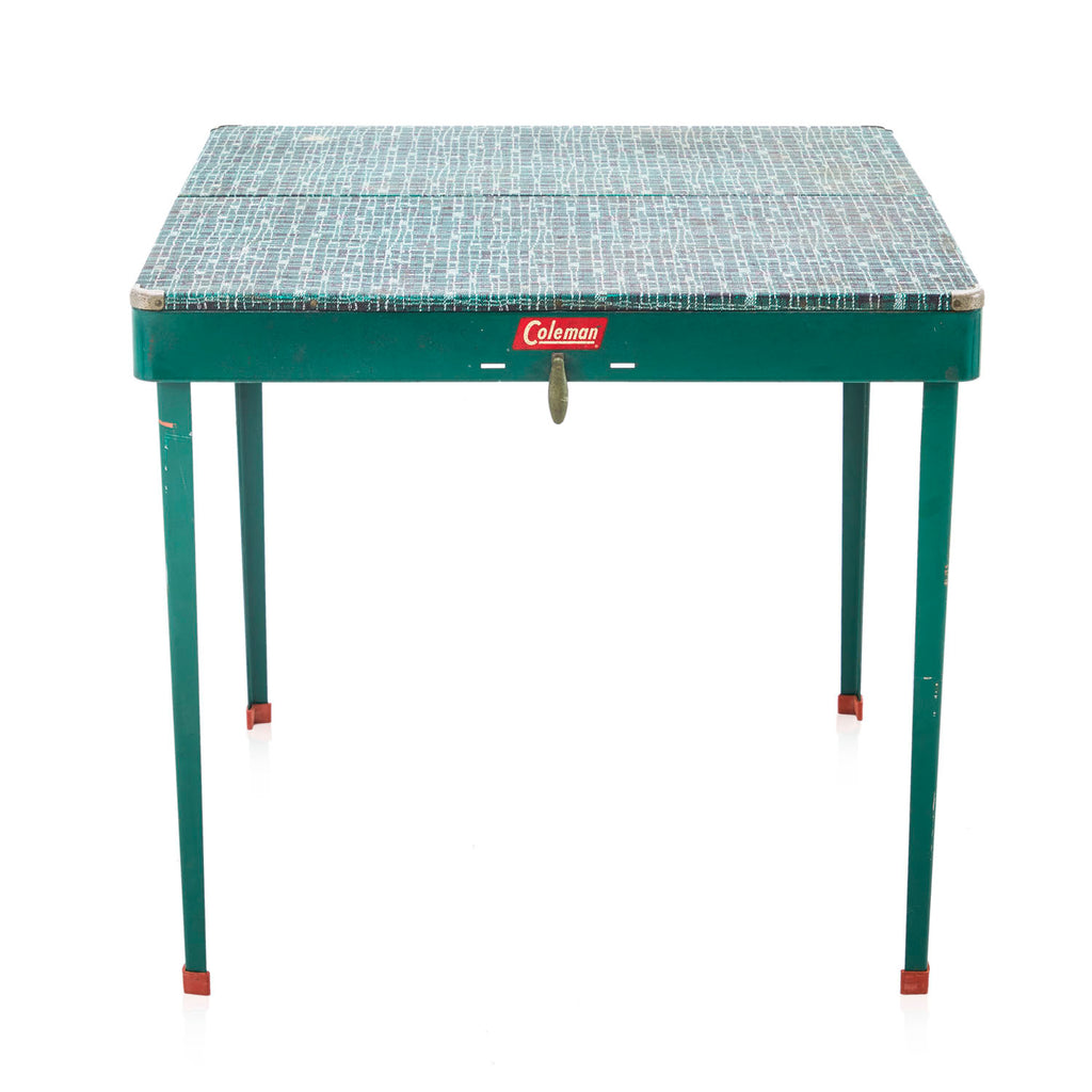 Foldable Green Camping Table and Stools