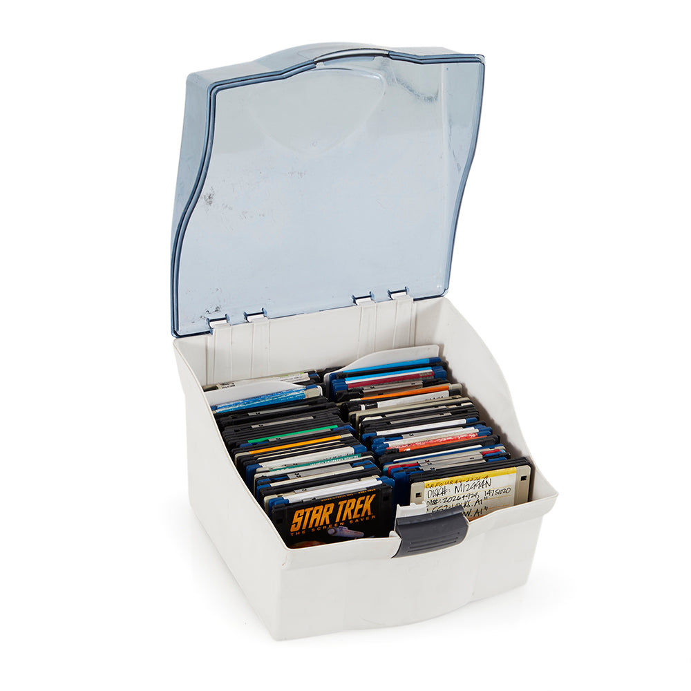 Transparent Lid Floppy Disc Storage Container
