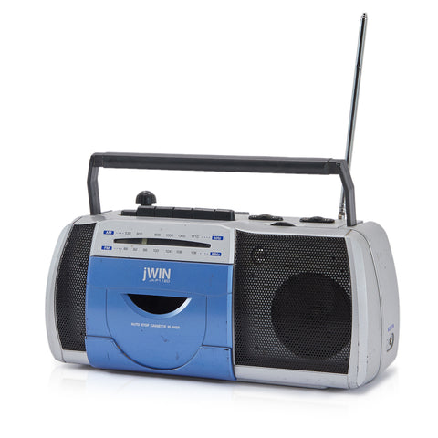 Small Blue and Grey Boombox