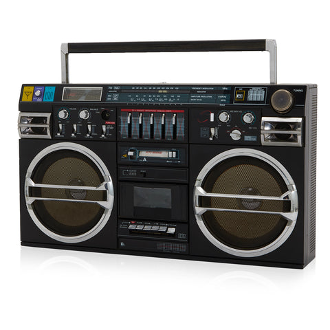 Large Black Retro Boombox