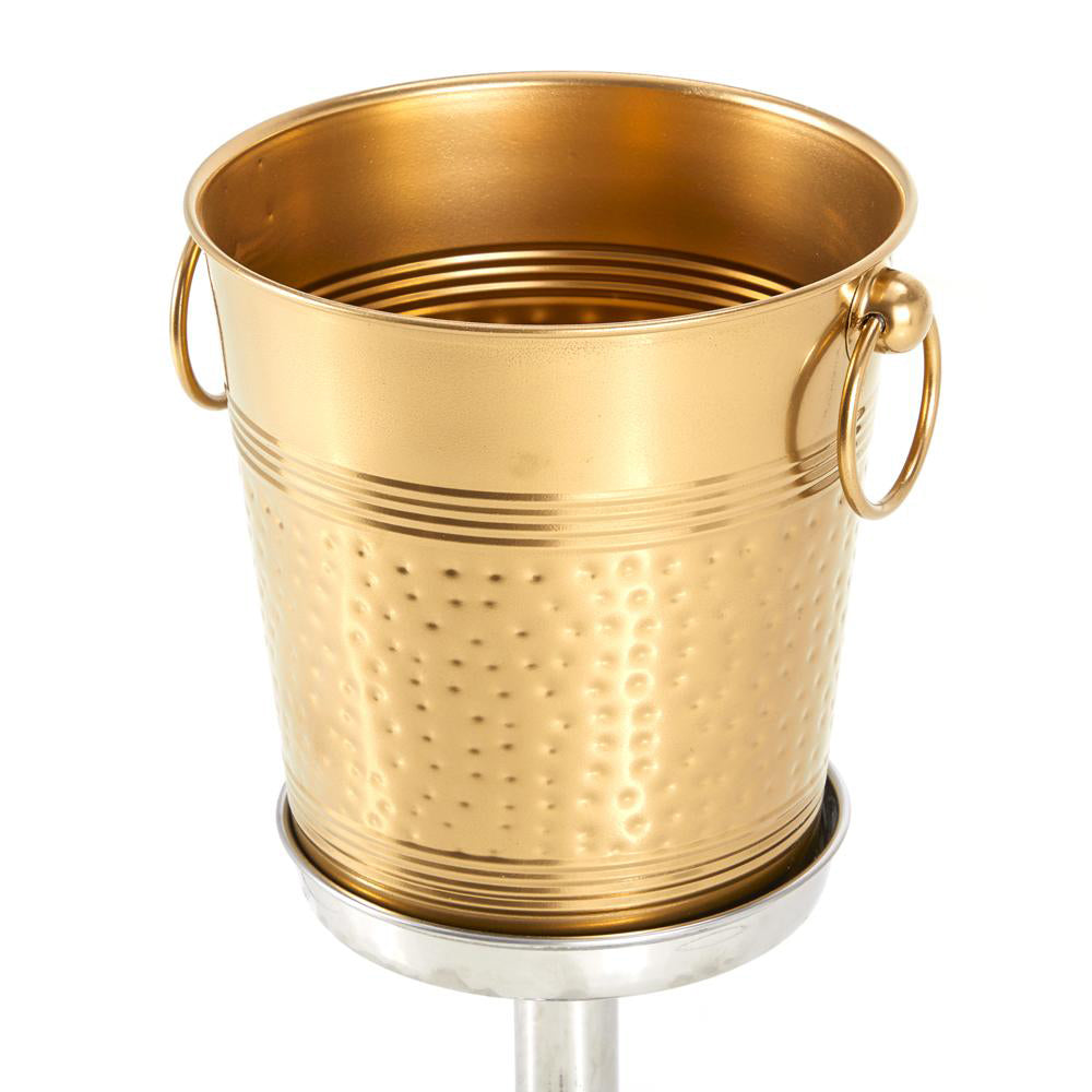 Copper Ice Bucket on Stand