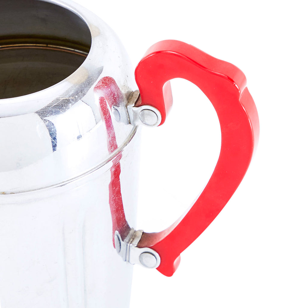 Chrome - Red Handle Water Pitcher