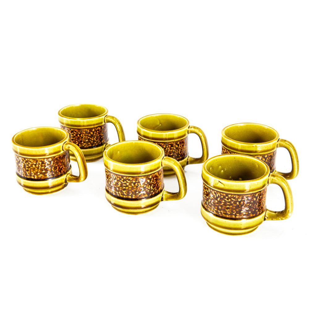 Chartreuse and Brown Mug