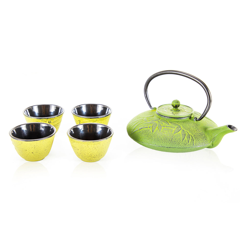 Green + Yellow Japanese Tea Pot Set