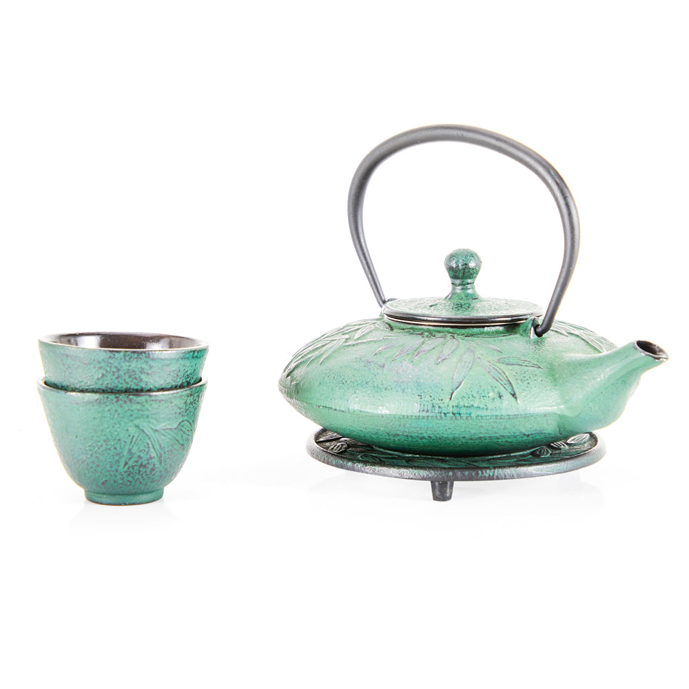 Emerald Green Japanese Tea Set