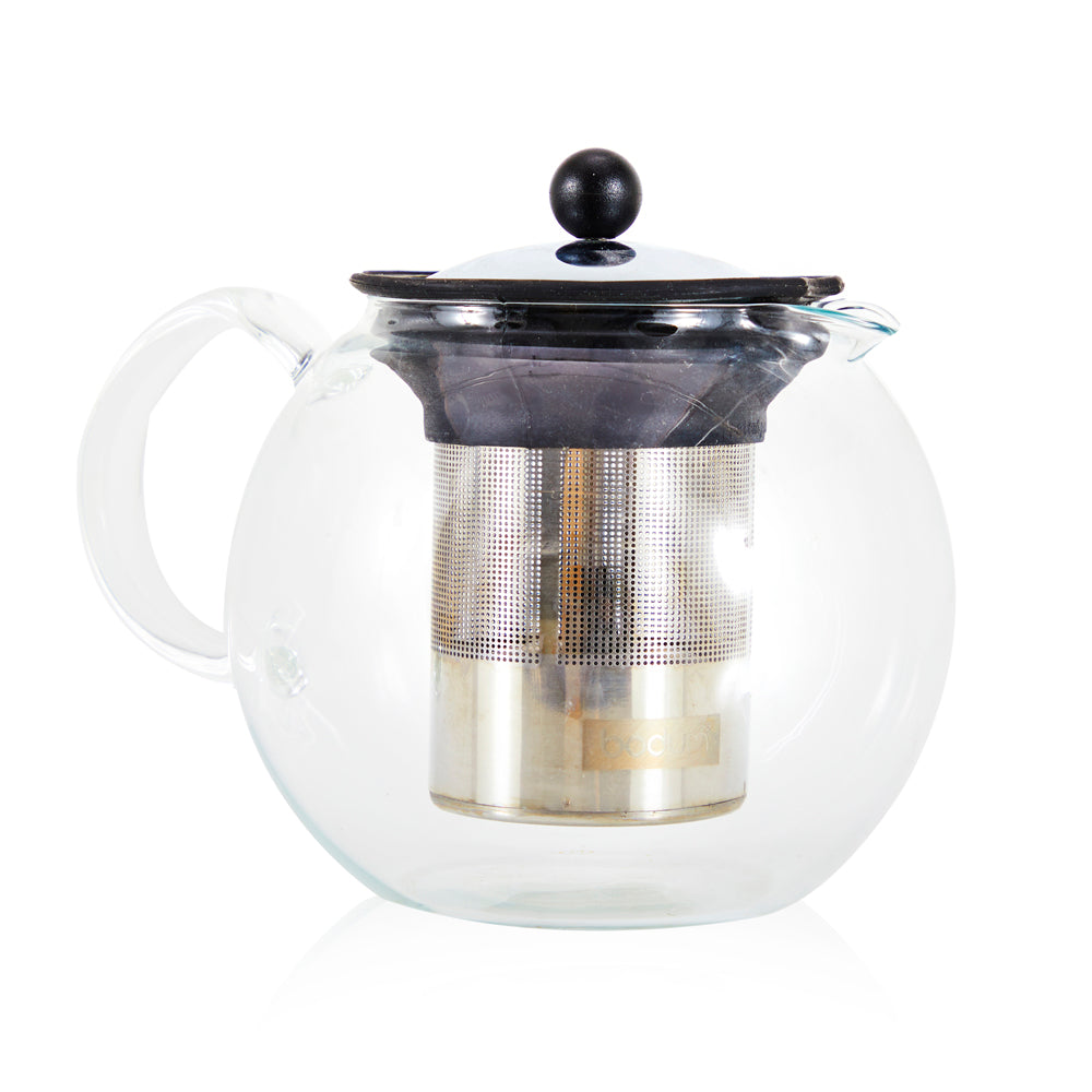Round Glass Infuser Tea Pot