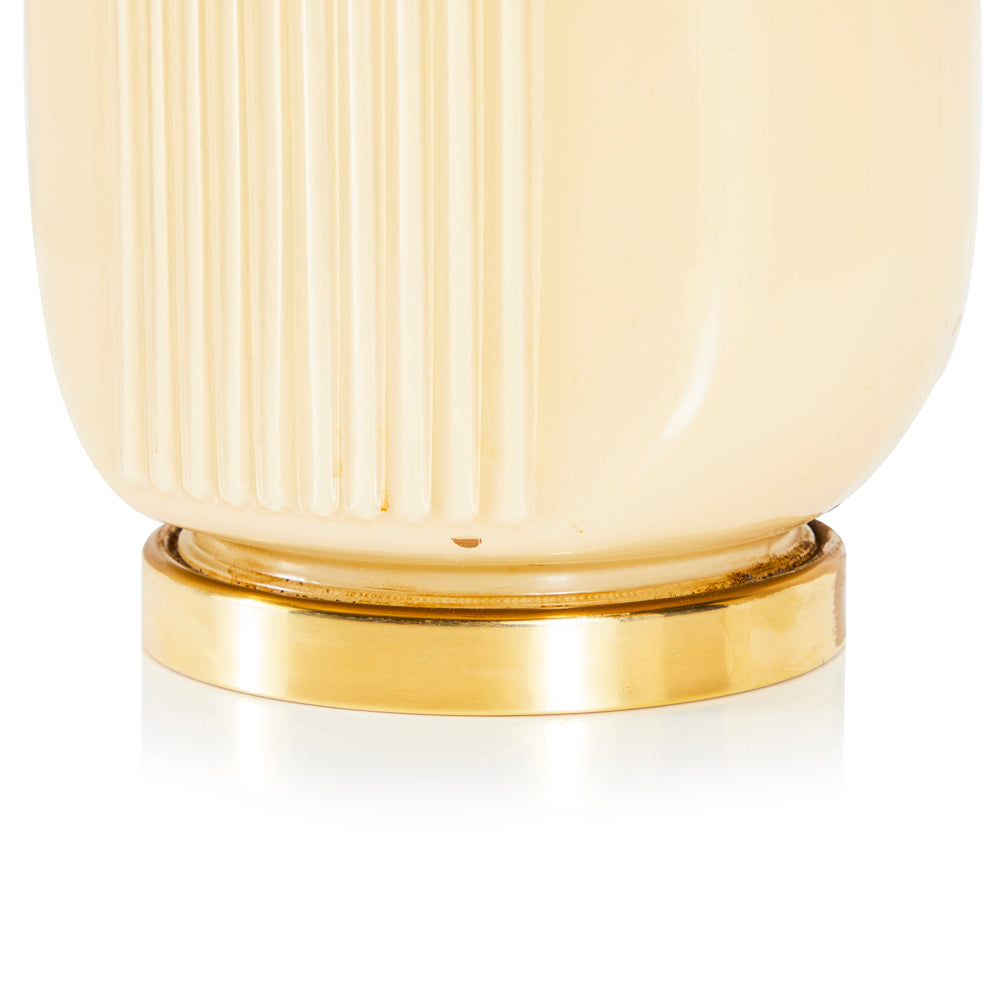 Art Deco Cream Lamp