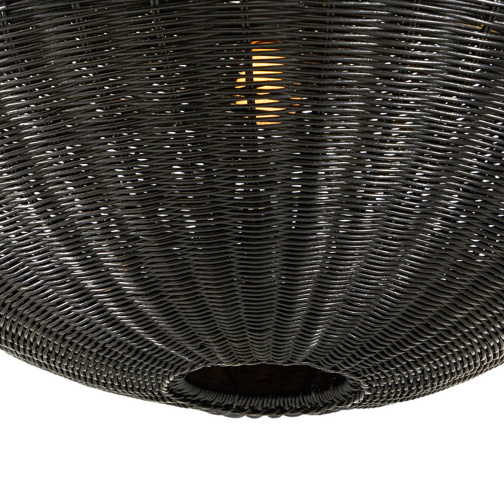 Black Wicker Pendant Lamp