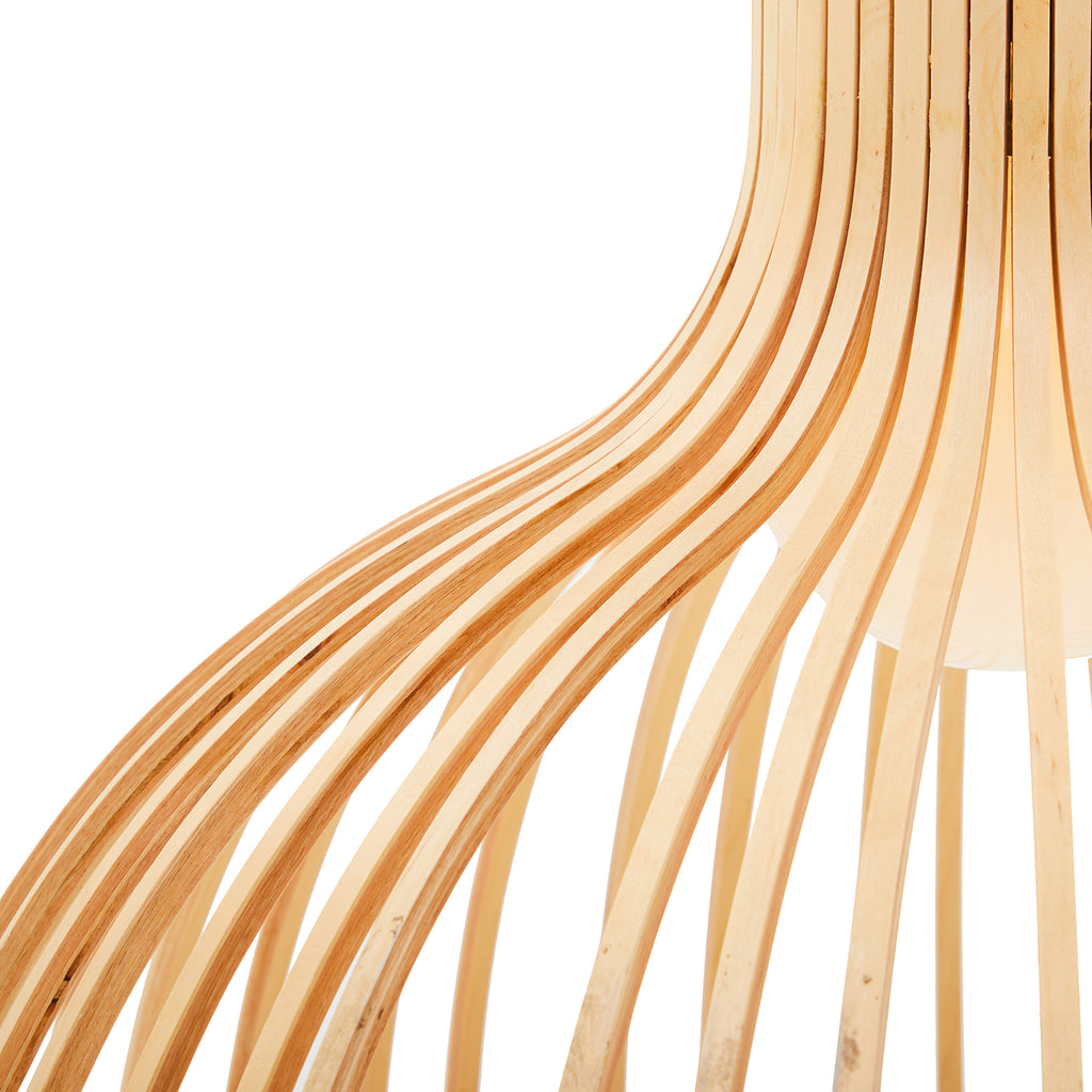 Contemporary Bentwood Pendant Lamp