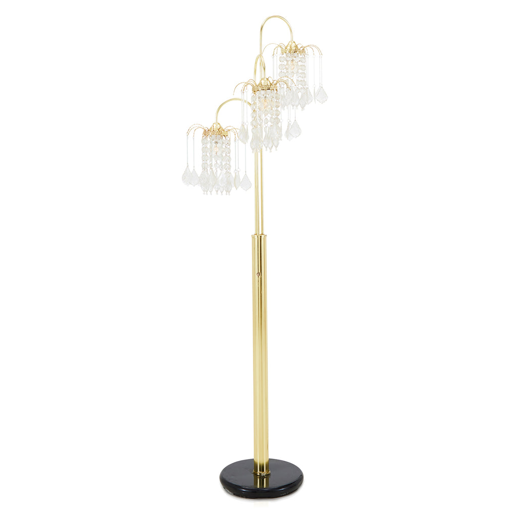 Gold and Crystal Floor Lamp
