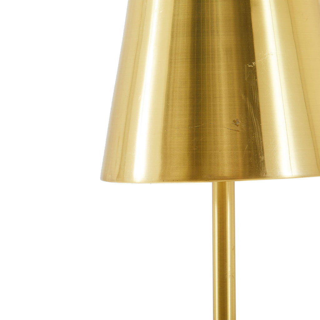 Brass Cone Table Lamp