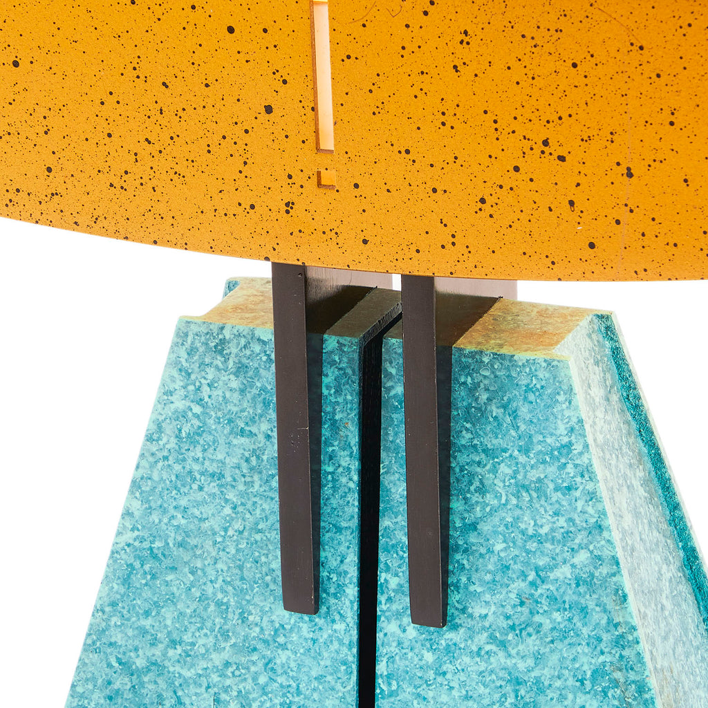 Gold and Turquoise Memphis Desk Lamp