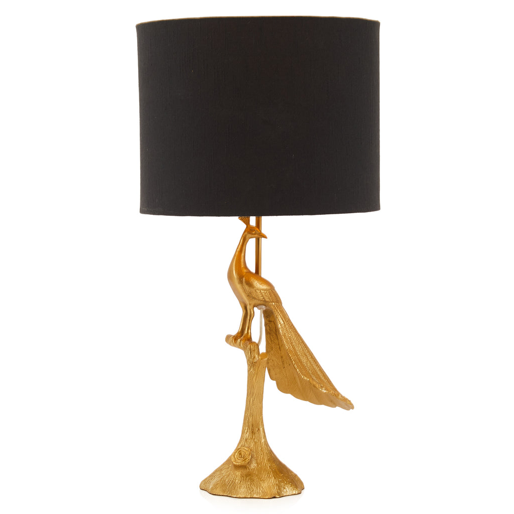 Golden Peacock Table Lamp
