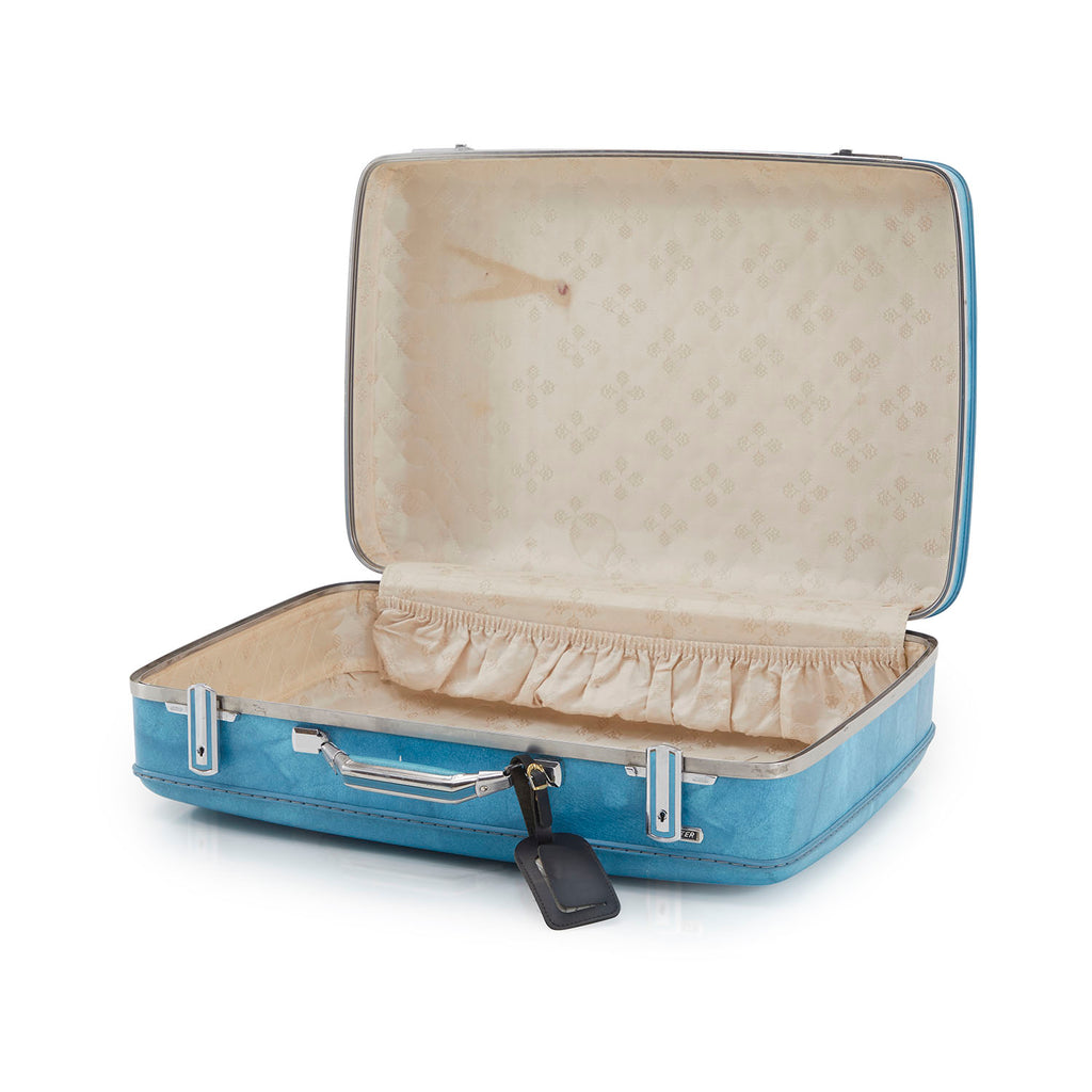 Vintage Blue Suitcase Medium