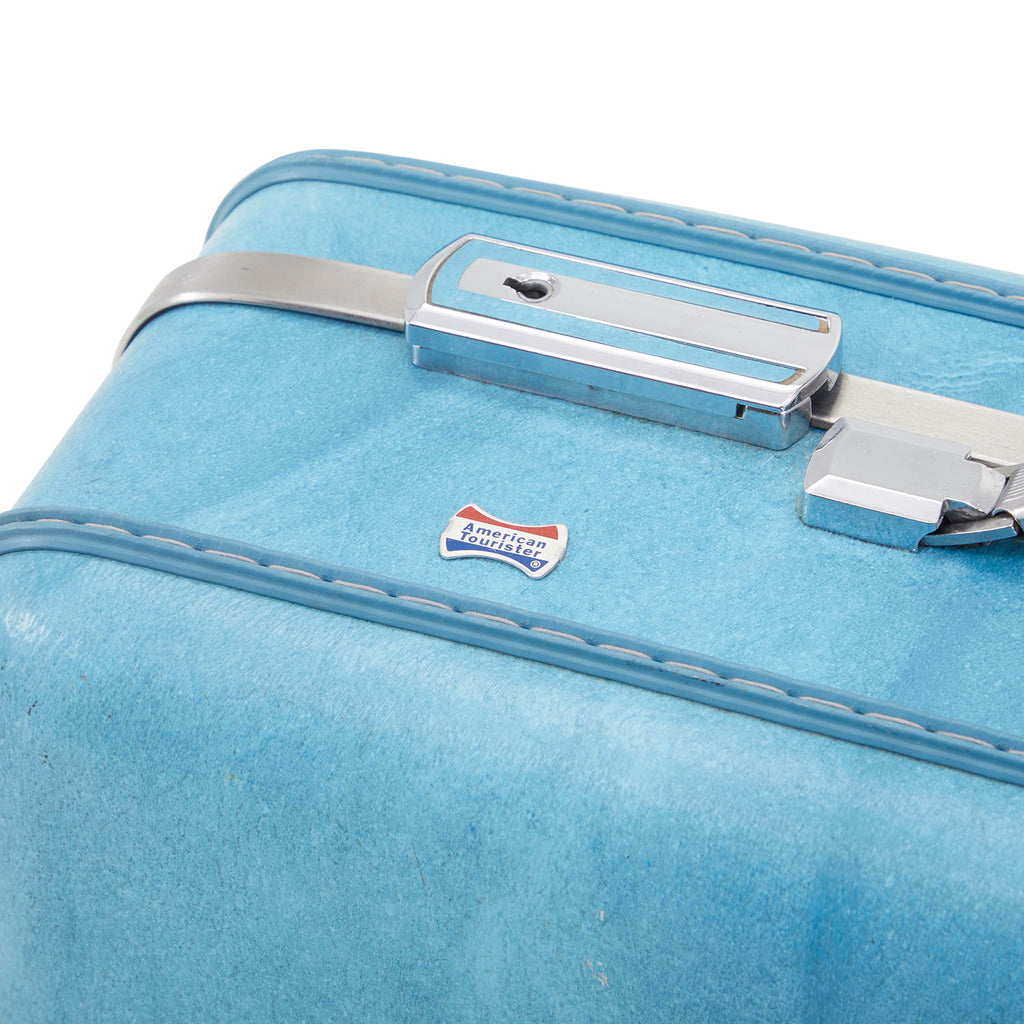 Vintage Blue Suitcase Medium 2