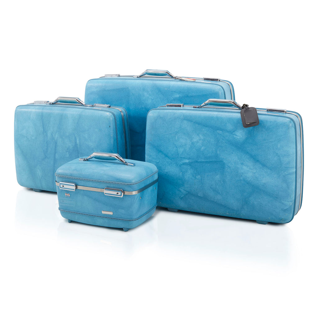 Vintage Blue Suitcase Large