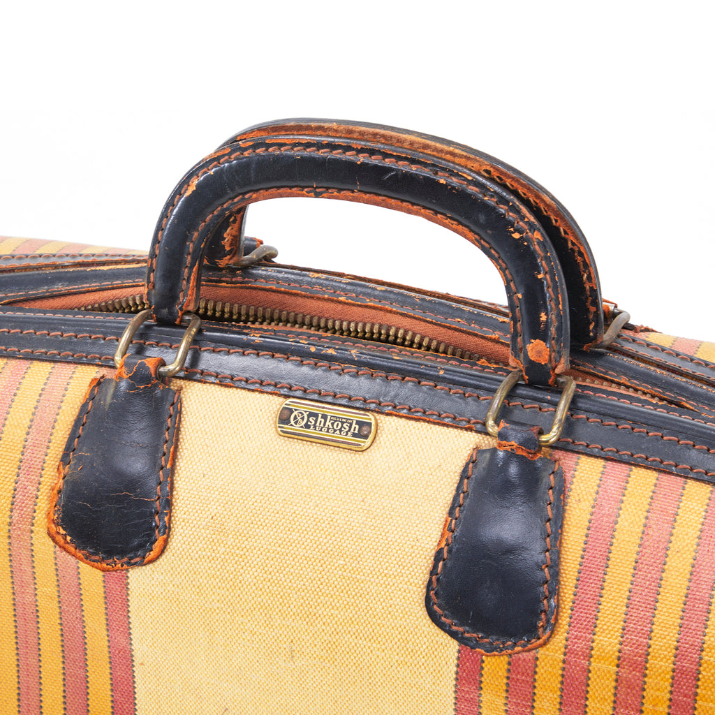 Tan with Red Racing Stripe Soft Luggage