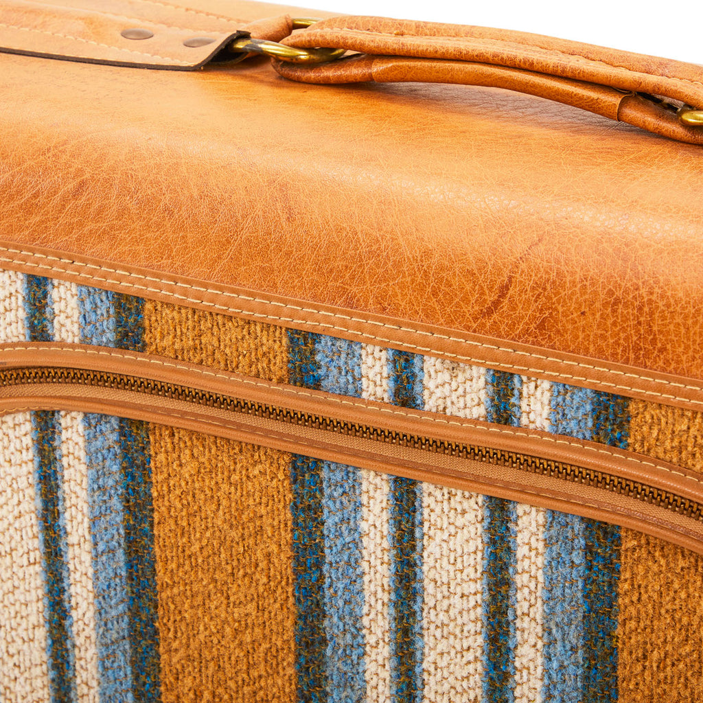 Leather Side Zipper Suitcase