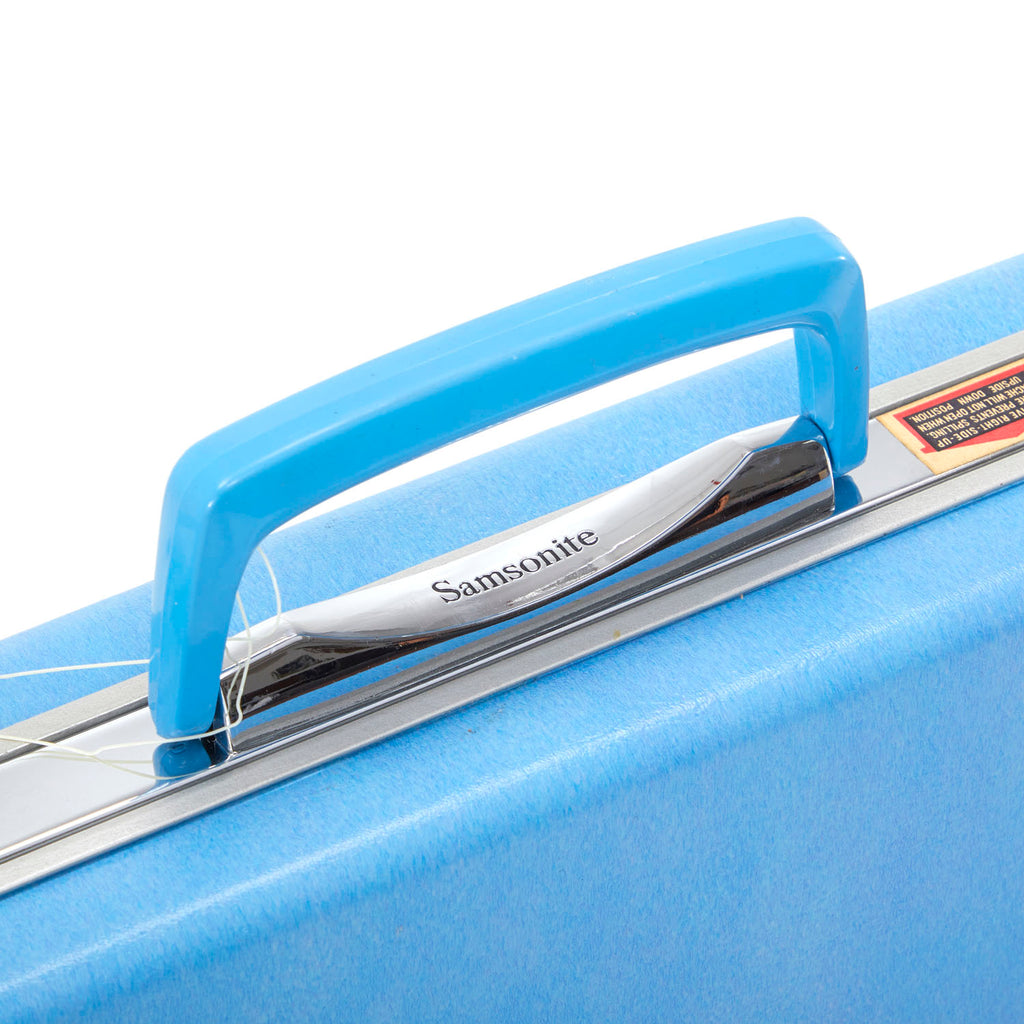 Rectangular Blue Vintage Suitcase