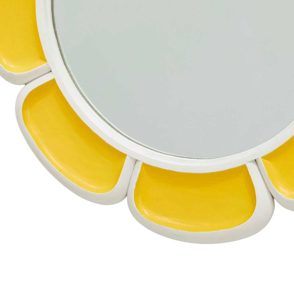 Mod Yellow Flower Wall Mirror