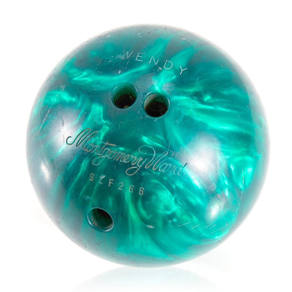 Aqua Blue Montgomery Ward Bowling Ball
