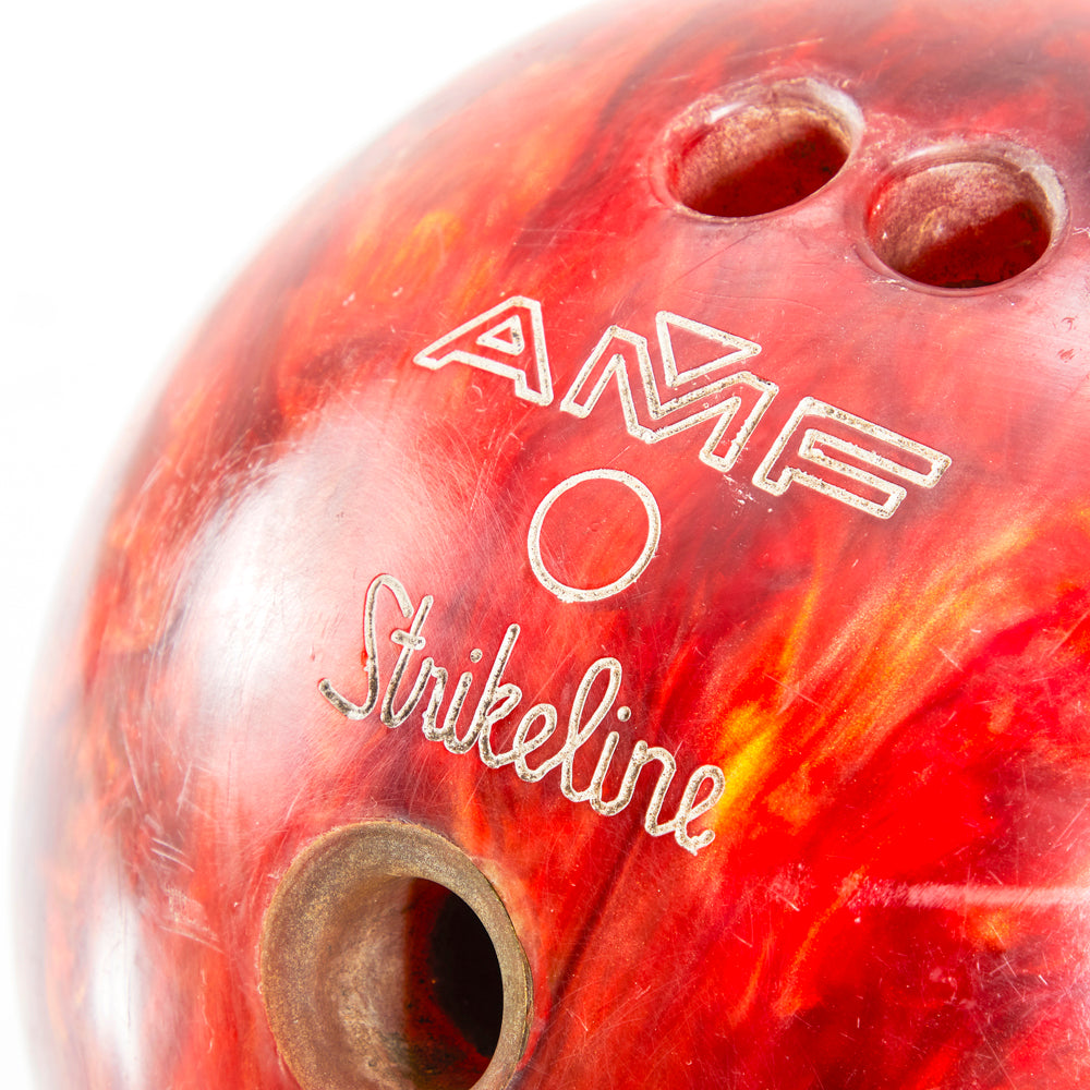 Red AMF Bowling Ball