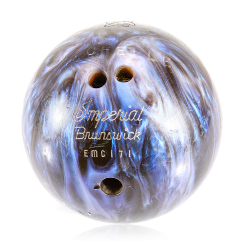 Black Blue Marbled Bowling Ball